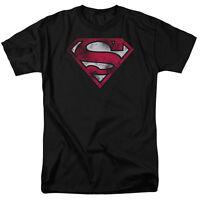 Superman War Torn Shield Logo Super Man Licensed Tee Shirt Adult Sizes S-3XL