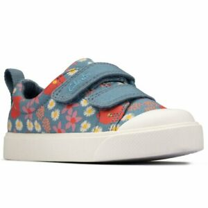 Clarks City Bright T Girls Infant Canvas Shoes