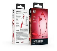 iFrogz  Free Rein 2 Bluetooth Wireless Headphones Red Sweat Resistant
