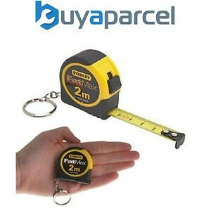 Stanley FMHT1-33856 1-33-856 STA133856 2m Mini Tape Measure Key Chain Keyring
