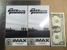 (Lot of 2) Fate of the Furious Regal Collectible IMAX Tickets Vin Diesel