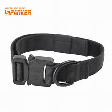"1"" Military Tactical Nylon Police Dog K9 Collar with Metal Buckle Dog Training"