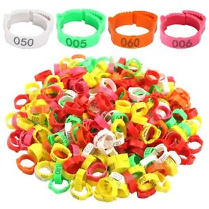 30Pcs Chicken Duck Goose Foot Ring Adjustable Size for Poultry Leg Digital Label