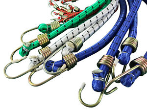 Bungee Strap Cords Best for Car Luggage Elasticated-Hooked (diameter 10 mm )