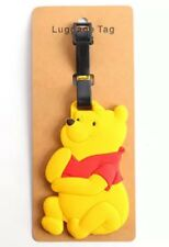 Winnie The Pooh Luggage Tag 4 Inches Rubber Disney US Seller