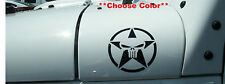 Military Star w/ Skull Decals - PAIR Fender Jeep Wrangler Ford Ram Chevy  FITS