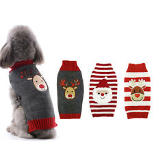 Sweater Dog Clothes Christmas Knitted Jumper Apparel For Small Large Dog XXS-XXL