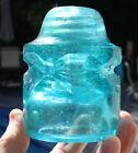 Super Light Jade & Fizz CD 135 Base Embossed Chicago Ins Co Glass Insulator