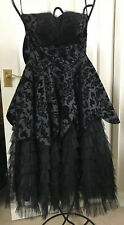 Gohtic /Victorian Style/Steam Punk Black Dress With Bow Size 6