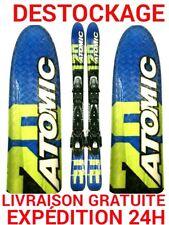"""mini ski snowblade occasion ATOMIC """"ETL"""" taille:120cm+ fixations."""