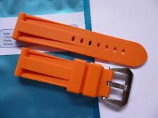 Rubber strap in 24mm - Orange with buckle 24/22mm fits your Panerai