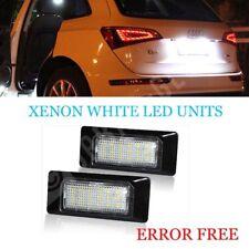 AUDI A4 B8 A5 TT Q5 Xenon Luz Brillante Blanco LED Número De Matrícula Unidades ningún error