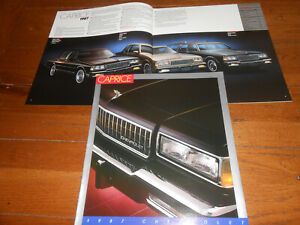1987 CHEVY CAPRICE BIG 16 p. BROCHURE / 87 CHEVROLET COUPE SEDAN WAGON CATALOG