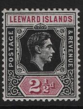 Leeward Island SG106 2½d  Black and Purple  Mounted Mint