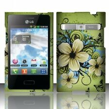 LG Optimus Logic L35G L38c Rubberized HARD Case Phone Cover Hawaiian Flower New