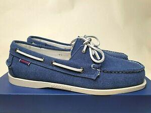 Sebago Docksides Portland 'Blue' Zen Canvas boat shoe (US12) authentic sperry