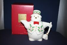 Lenox Holiday (Dimension) Snowman Teapot with Original Box