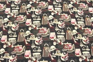 """Soft Tapestry Fabric, Paris Fashion Print, 60"""", Upholstery, Clothing, Bags"""