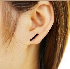 Ear Stud Earring Chic Jewelry Geometric T Bar black Earrings punk Women Men
