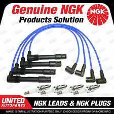 4 x NGK Spark Plugs + Ignition Leads Set for Audi A3 8L 1.8L 4Cyl