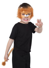 KIds Lion Costume Mask and Tail Set Boys Fancy Dress Girls Party Animal 5-9 NEW