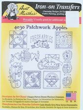 Aunt Martha's Iron-on Transfers Patchwork Apples 4030 Embroidery Quilting Design