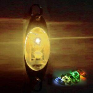 Flash Lamp LED Deep Drop Underwater Eye Shape Fishing Squid Fish Lure 2.4 Inch