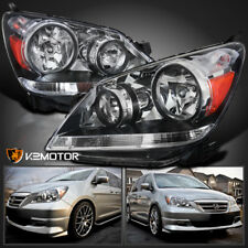 For 2005-2007 Honda Odyssey Crystal Clear Headlights Head Lamps Pair Left+Right