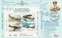 JSF9b 46th Anniv  Battle of Britain  Signed by 9 Battle of Britain Pilots Crew