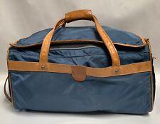 Vtg HARTMANN  Nylon Leather Trim Belting Carry On  Duffle Bag Suitcase (A15)