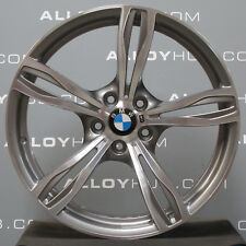 "GENUINE BMW M5 343M SPORT 5 TWIN SPOKE 20"" INCH POLISH/GREY FRONT ALLOY WHEEL X1"