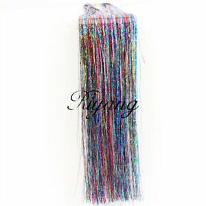 Women's DIY Hair Tinsel Invisible Sparkling Feather Hair Extensions 90cm Fashion