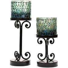 Ambia Pillar Candle Holders Set of 2