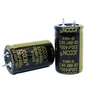 1PC 330uF 400V Snap-in Electrolytic Radial Capacitors 105°C 25x40mm