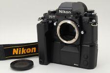 MINT Nikon F3/T HP BLACK 35mm SLR Body w/Motor Drive MD-4 Strap from Japan a660