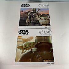 Lot Of 2 Star Wars Mandalorian Baby Yoda 500 Piece Buffalo Puzzles