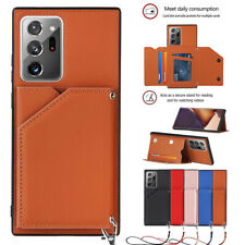 For Samsung S21 Ultra Note 20 S20 S10 S9 Leather Magnetic Flip Wallet Case Cover