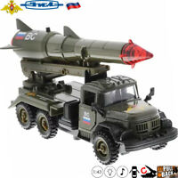 Diecast Cars Scale 1:43 Truck ZiL 131 Missile Transporter Russian Army Model Toy