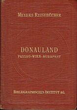 Meyers Reisebücher Donauland 1930 Wien Budapest Wachau Plattensee Burgenland