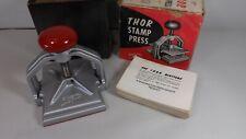 Vintage White Ace Thor Metal Stamp Press