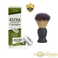Astra Green Superior Platinum   Double Edge Razor Blades   Premium Safety DE