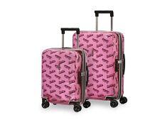 Mum & daughter Samsonite Cabin Cases Transparent Pink Barbie BNIB new suitcases