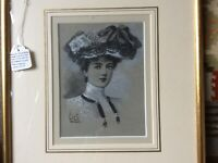 HORACE FISHER-ORIGINAL MONOCHROME WATERCOLOUR STUDY FOR L'ETOILE C1900 FRAMED