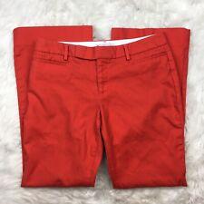 Gap Women's Orange Coral Modern Boot Khaki Chino Pants Size 4A