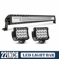 "44/"" inch 603W LED Light Bar Combo Driving OffRoad Truck 4WD ATV UTV PK 46"