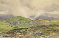 John Murray Thomson RSA, Muirburning, Scotland – Mid-C20th watercolour painting