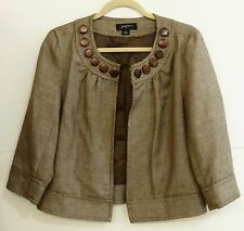 GUC Josephine Women's Size 4 Very Stylish Hook Latch Brown Blazer Jacket