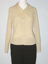 ESPRIT Size 6 (US) 36 (D) 38 (F) 10 (UK) Beige Button-Down Long Sleeve Shirt