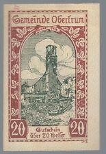 Notgeld - Österreich - Gemeinde Obertrum - 20 Heller - 1920