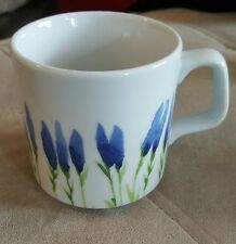 PILLIVUYT FRANCE FLEUR DE PROVENCE GARRIGUE MUG 10 OZ BLUE & GREEN FLOWERS